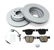 BMW Brake Kit - Zimmermann/Akebono 34216864054KTR2