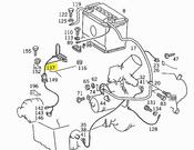Mercedes Alternator Cable (300D) - Genuine Mercedes 2015403534