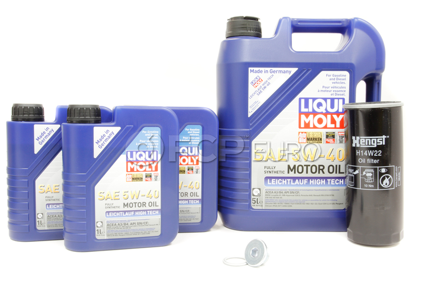 VW Audi Oil Change Kit 5W-40 - Liqui Moly KIT-077115561G.8L