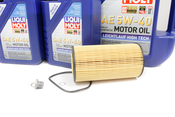 VW Audi Oil Change Kit 5W-40 - Liqui Moly KIT-079198405D.9L