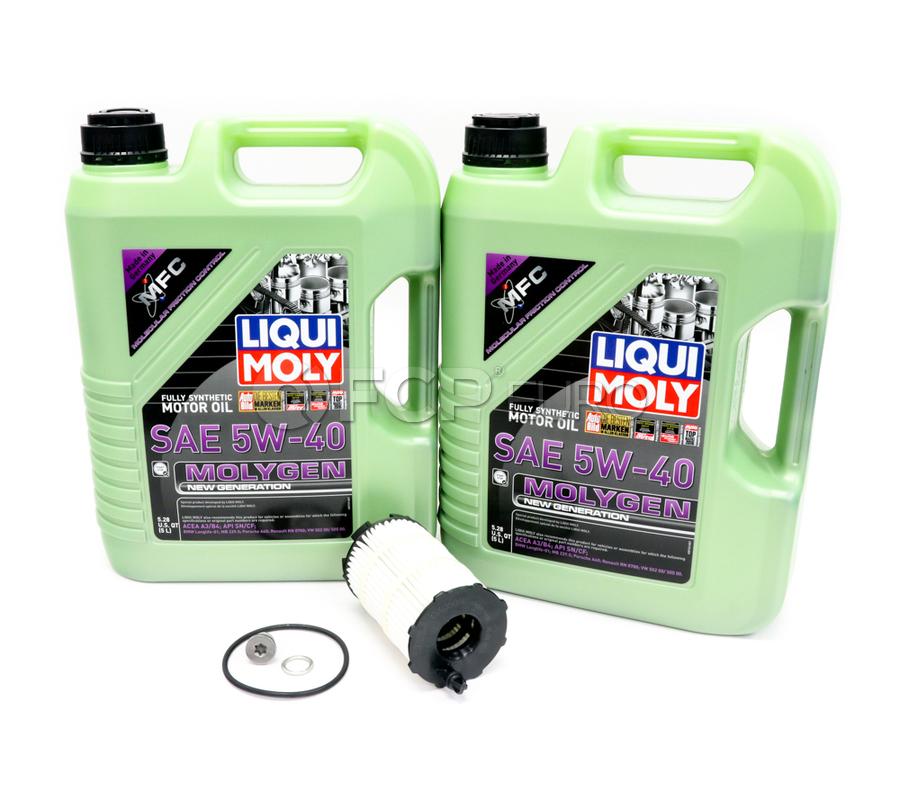 VW Audi Oil Change Kit 5W-40 - Liqui Moly Molygen KIT-079198405E.10LM