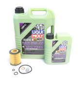 Mercedes Oil Change Kit 5W-40 - Liqui Moly Molygen 2701800109.6L