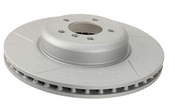 BMW Brake Disc Dimple and Slotted - Zimmermann 34106797603