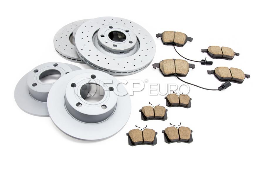 Audi VW Brake Kit - Zimmermann/Akebono 4B0615601KT2