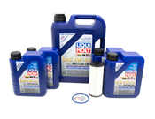 Mercedes Oil Change Kit 5W-40 - Liqui Moly 1761800800