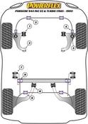Porsche Pivot Strut to Tube Bushing Set - Powerflex PFR57-223B