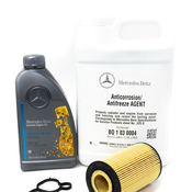 Mercedes Oil Filter Housing Gasket Kit - Genuine Mercedes 1561840080