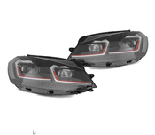 VW Headlight Assembly Upgrade Kit - Helix HVWG75HLRD2