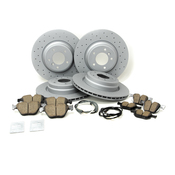 BMW Drilled Brake Kit - Zimmermann/Akebono 34116855000KTFR13